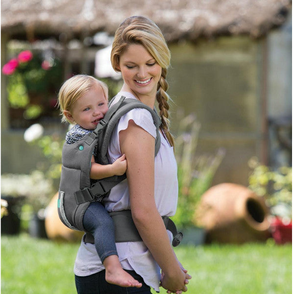 83061f40502 Infantino Cuddle Up Ergonomic Hoodie Baby Carrier - Grey – Cute Baby ...