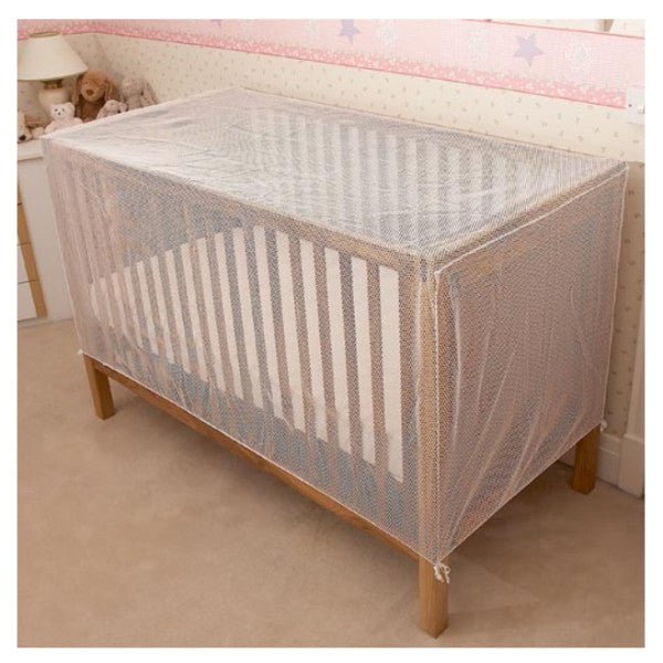 Clippasafe Cot Cat Net - Strong Pre-Shaped White Mesh for Standard Cots cutebabyangels.co.uk