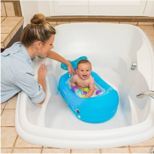 Infantino Whale Bubble Ball Inflatable Bath Tub with 10 Floating Balls cutebabyangels.co.uk Free Shipping