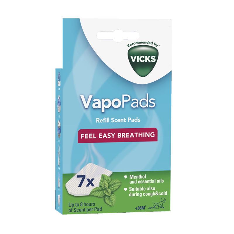 Vicks VapoPads Menthol Cough & Cold Relief Essential Oils Scented Pads