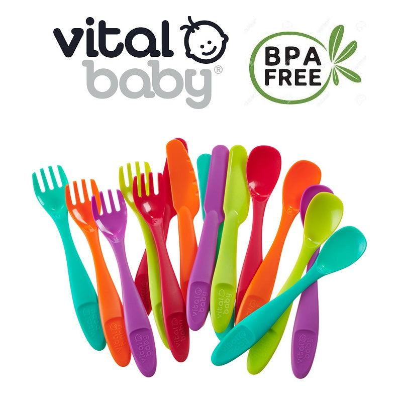 Vital Baby NOURISH Perfectly Simple Cutlery 15Pk cutebabyangels.co.uk