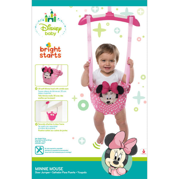 Bright Stars Disney Baby Minnie Mouse Door Jumper – Cute Baby Angels Ltd