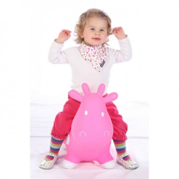 KidzzFarm Betsy the Caw Bouncy Animal Hopper – Pink & White cutebabyangels.co.uk