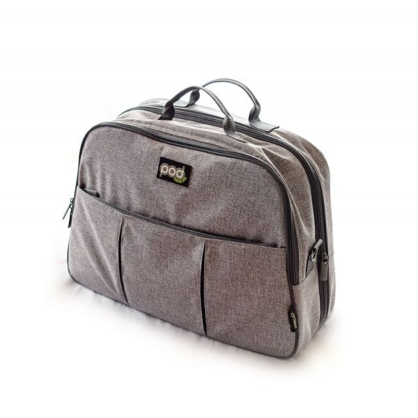 Bizzi Growin POD - 2 in 1 Travel Changing Bag & Travel Cot - Linen Grey