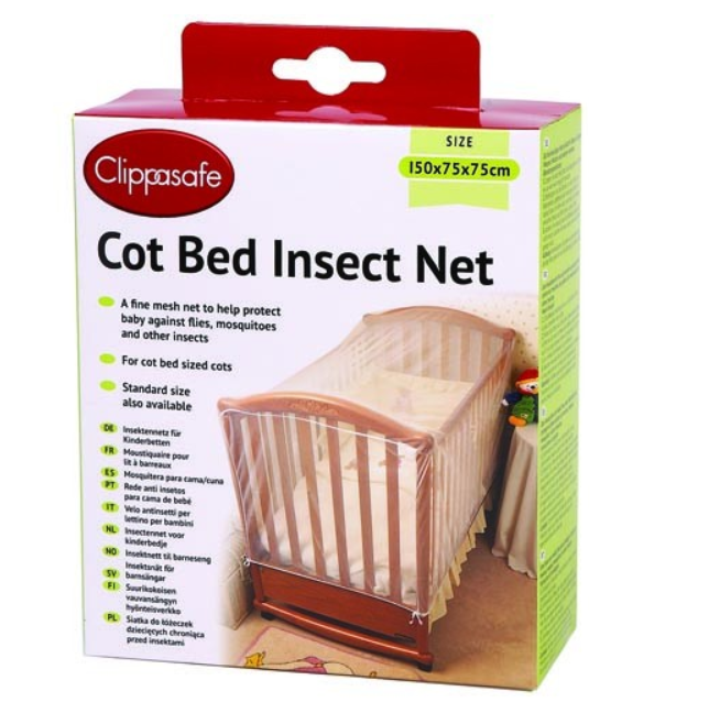 Clippasafe Insect Net - Fine Pre-Shaped White Mesh for Baby Cot Bed cutebabyangels.co.uk