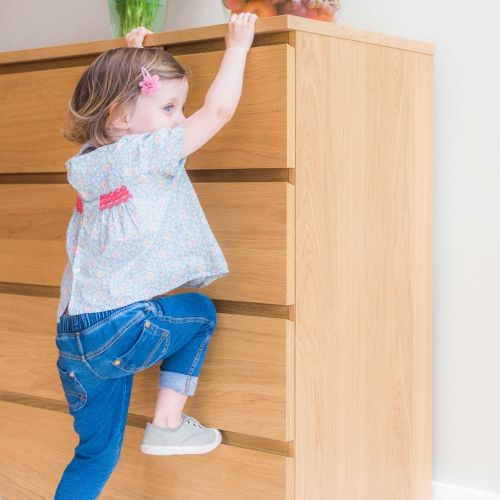 Clippasafe Anti-Tip Furniture Safety Straps White - Child Home Proofing cutebabyangels.co.uk