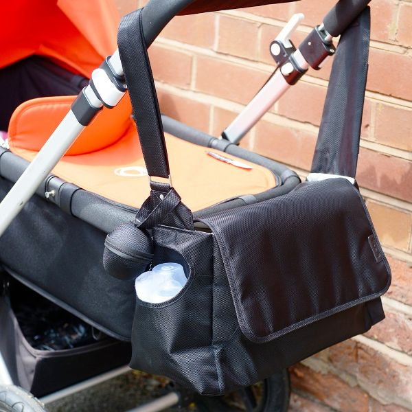 Koo-di Messenger Black Unisex Baby Nappy Changing Bag  cutebabyangels.co.uk FREE Shipping