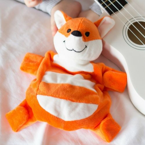 Sleepytot Fox Baby & Toddler Comforter Plush Toy - Orange & White shop at cutebabyangels.co.uk Free Postage