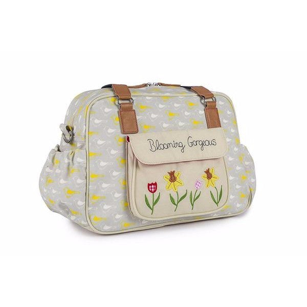 Pink Lining Blooming Gorgeous Changing Bag - Garden Birds Design - Cute Baby Angels Ltd