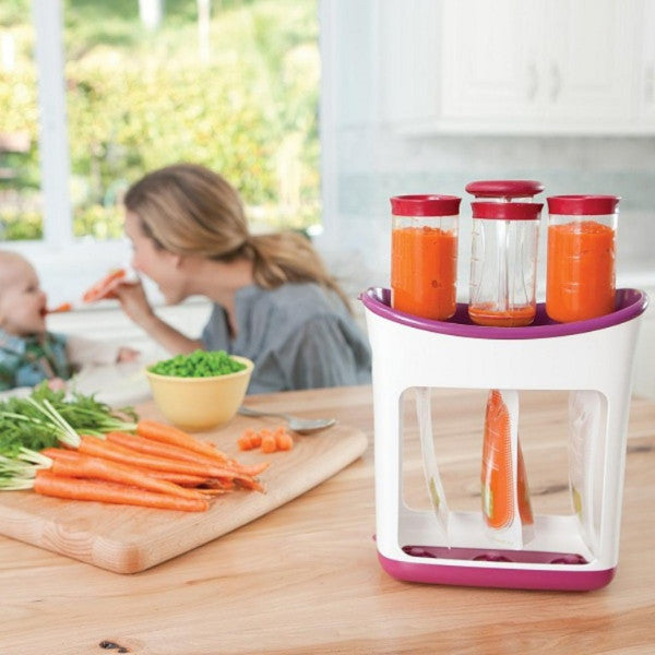 Infantino Freshed Squeezed Baby Food Station with 10 Reusable Pouches