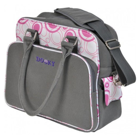 Dooky Baby Changing Bag with Change Mat & Accessories – Pink Circle cutebabyangels.co.uk