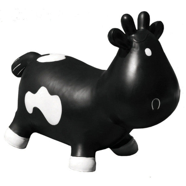KidzzFarm Betsy the Caw Bouncy Animal Hopper – Black & White cutebabyangels.co.uk