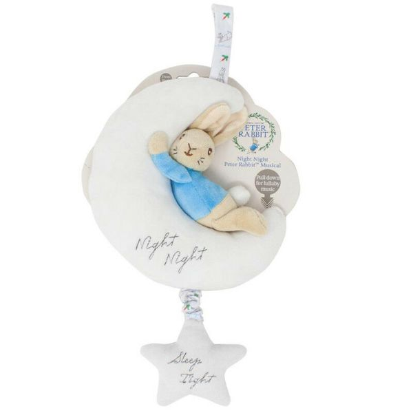Peter Rabbit Musical on The Moon Baby Plush Cot Mobile Comforter cutebabyangels.co.uk