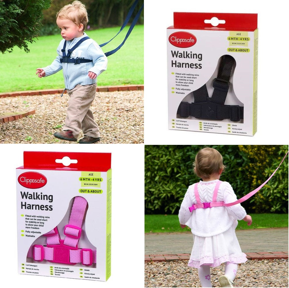 Clippasafe Baby & Toddler Walking Harness & Safety Reins - 6m to 4y cutebabyangels.co.uk free shipping