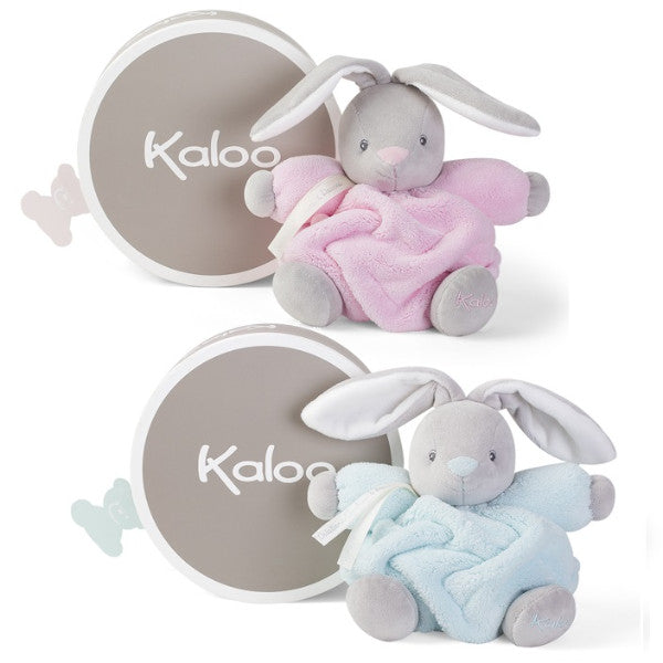 buy Kaloo Plume Rabbit Baby Comforter Cot Toy  - Pink or Blue at cutebabyangels.co.uk Free Shipping