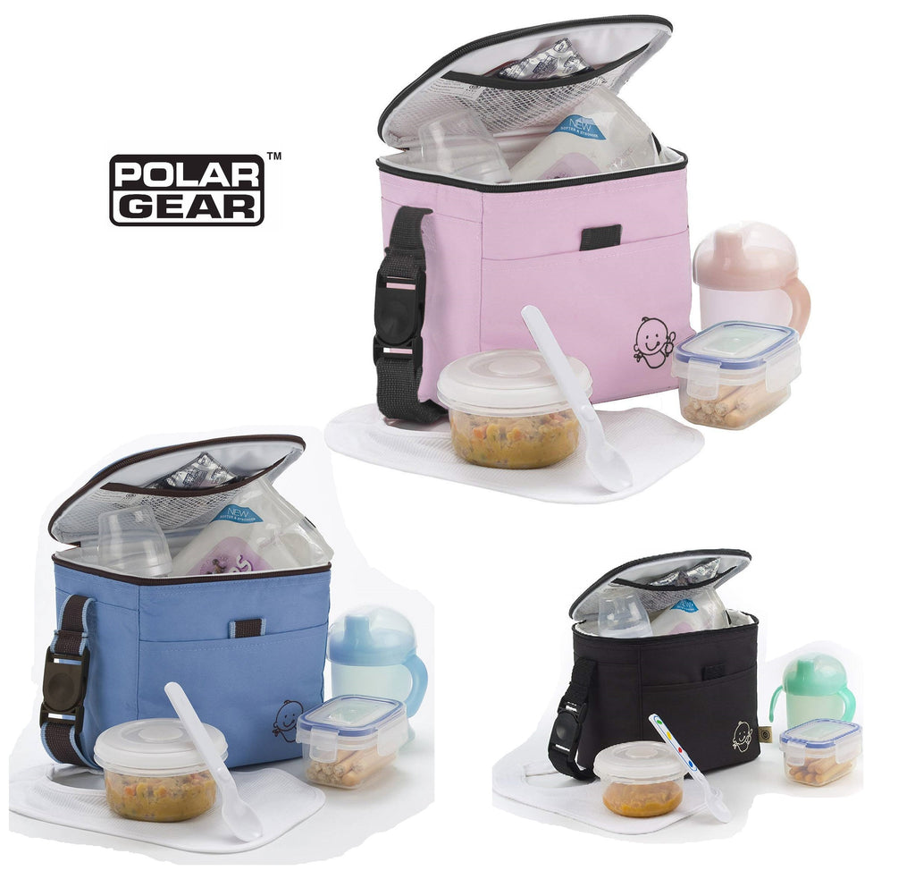 Buy Polar Gear Little Ones Lunch Bag - Black, Pink or Blue at cutebabyangels.co.uk Free Postage
