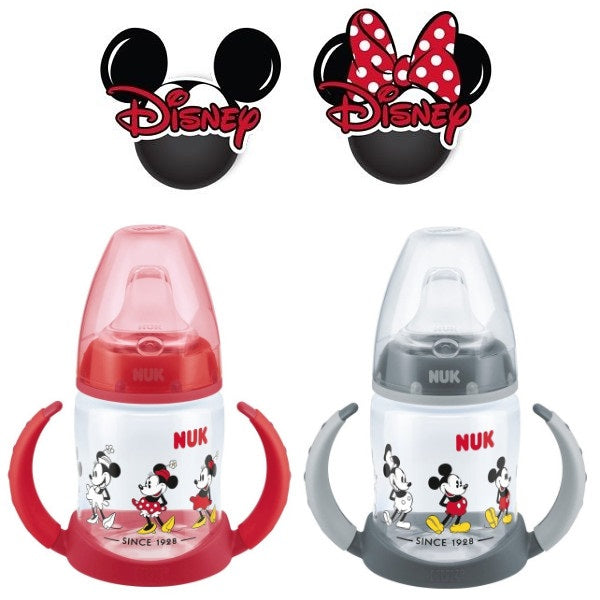 NUK Disney First Choice Learner Bottle - Mickey & Mickey Mouse Print Buy at cutebabyangels.co.uk Free UK Shipping