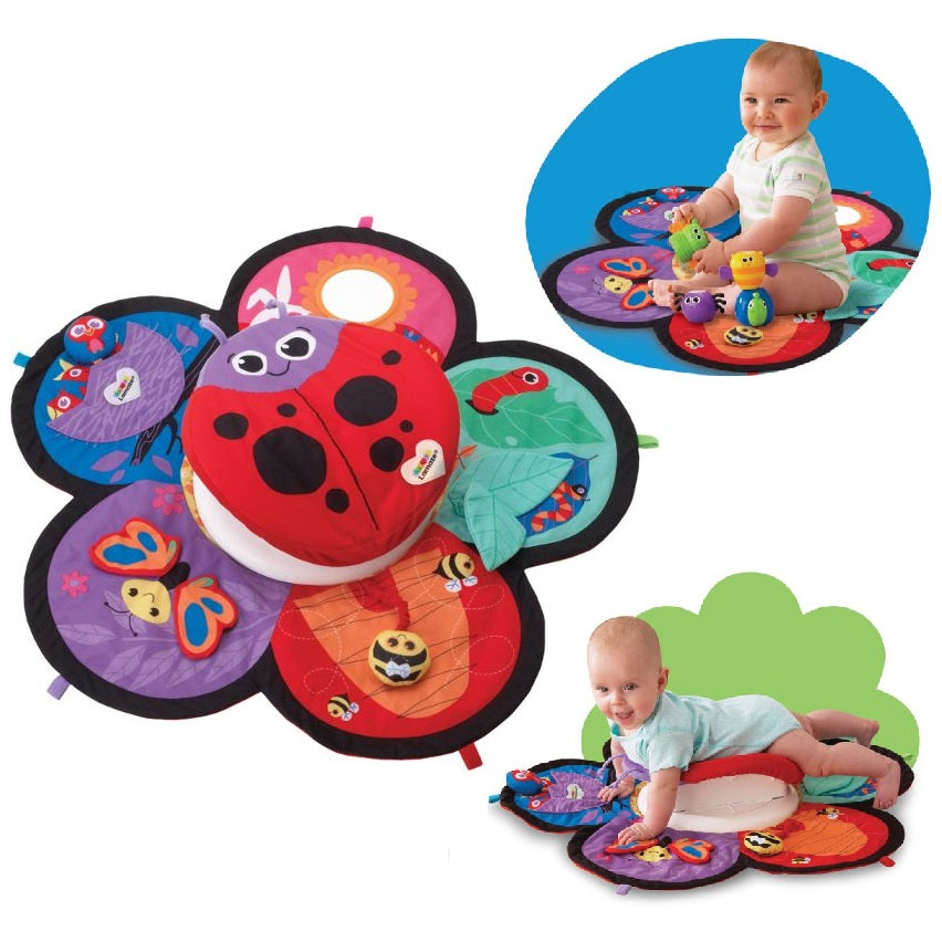 Lamaze Spin & Explore Garden Gym - Baby Play Mat Activity & Infant Tummy Time Toy  cutebabyangels.co.uk
