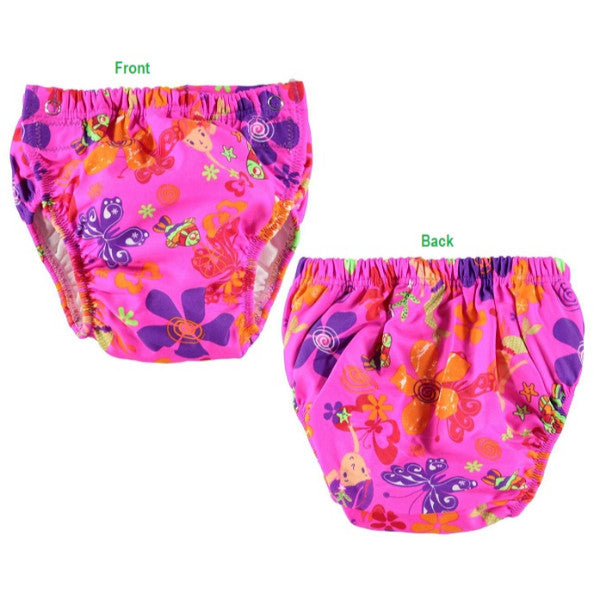 Zoggs Adjustable Baby Swim Pants - Waterproof Nappy - Mermaid Flower 3-24mths cutebabyangels.co.uk