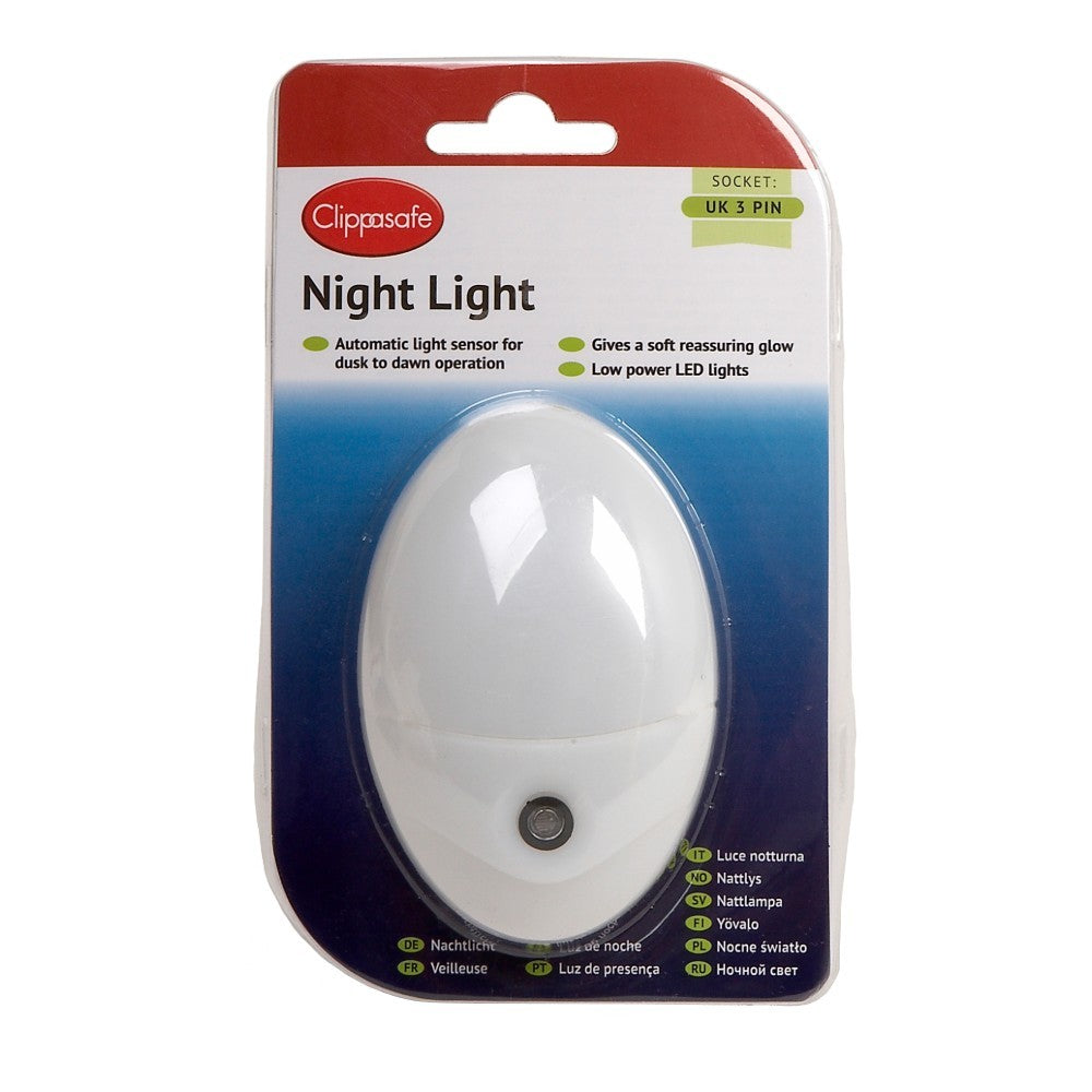 Clippasafe Automatic Night Light with Sensor for Nursery Rooms  cutebabyangels.co.uk