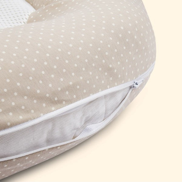 PurFlo Breathable Nest Multifunctional Baby Bed – Soft Truffle cutebabyangels.co.uk
