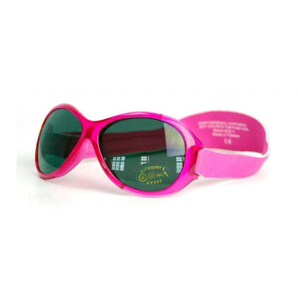 Baby Banz Retro Sunglasses Oval Pink  0-2 Years – Wraparound Design cutebabyangela.co.uk