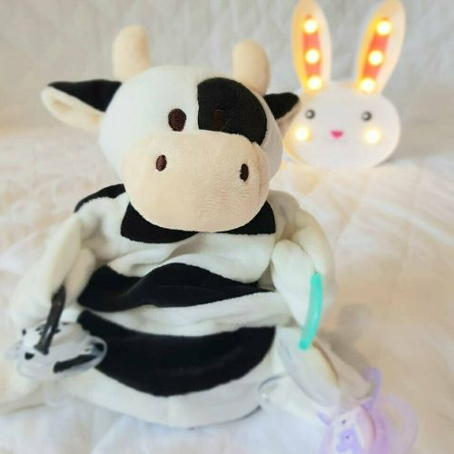 Sleepytot Cow Baby & Toddler Comforter Plush Toy - White & Black shop at cutebabyangels.co.uk Free Postage
