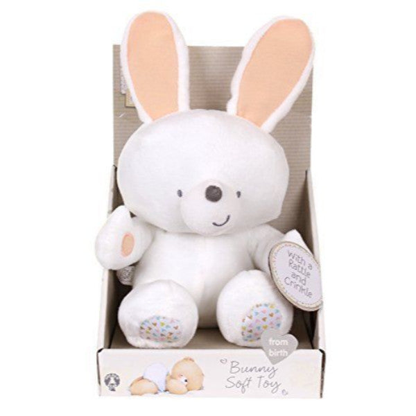 Forever Friends Soft Bunny Baby Toy with Crinkle & Rattle  cutebabyangels.co.uk