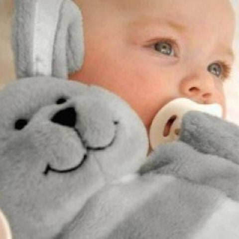 Sleepytot Bunny Baby & Toddler Comforter Plush Toy - Large Grey
