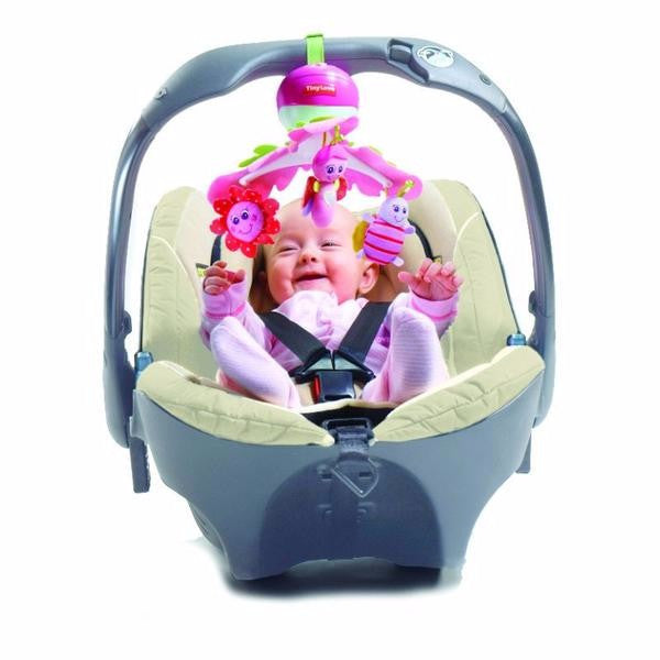 Tiny Love Take Along Tiny Mobile - Cot & Travel Lullaby Player - Pink - Cute Baby Angels Ltd