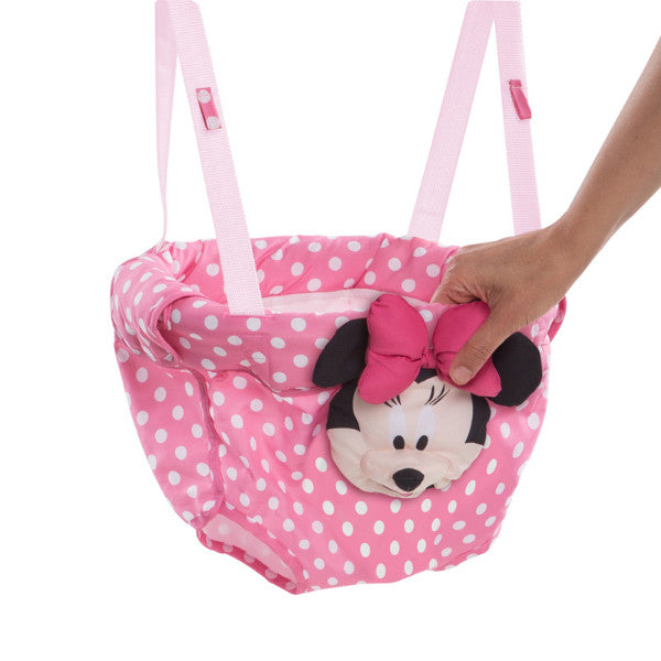 Disney Baby Minnie Mouse Door Jumper - Activity Bouncer Seat with 3D Crinkly Head cutebabyangels.co.uk