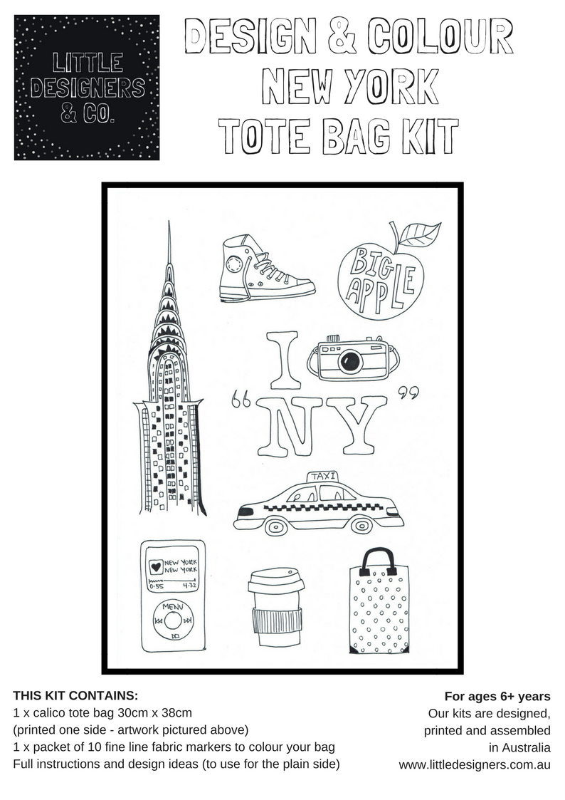 NEW YORK AT HOME PARTY PACK for 8 - DESIGN & COLOUR New York Tote ...