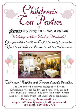 Children's Tea Parties at Newens | The Original Maids of Honour