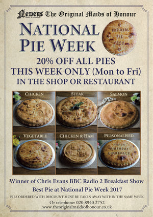 National Pie Week 2018 | 20% off all our Pies