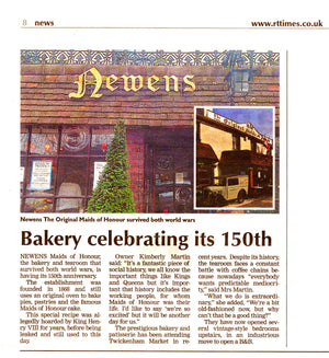 Newens | Maids of Honour Feature in the Richmond & Twickenham Times Celebrating its 150th