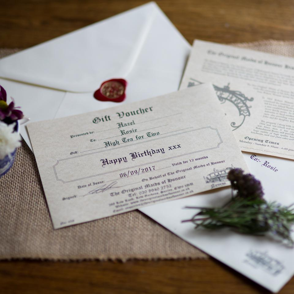 Savoury High Tea Voucher