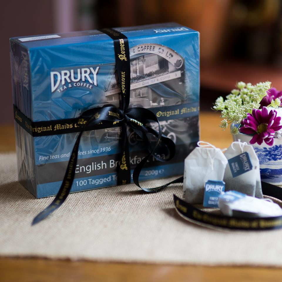 Drury English Breakfast Tea 200g - 100 tagged bags
