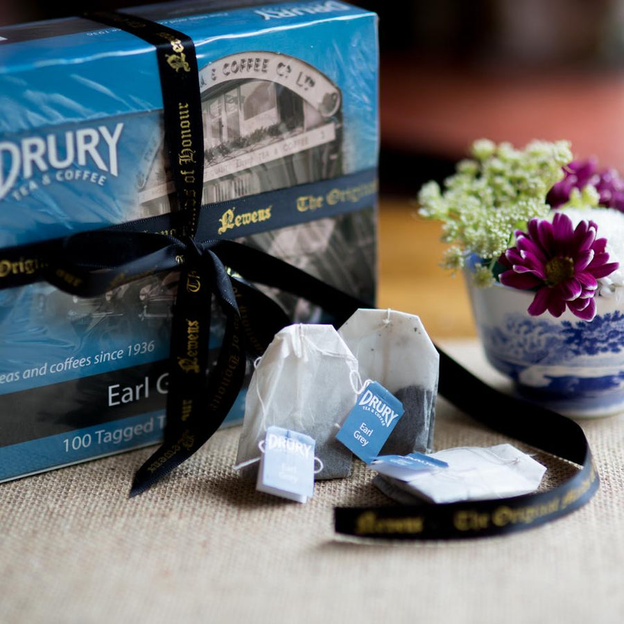 Drury Earl Grey Tea 200g - 100 tagged bags