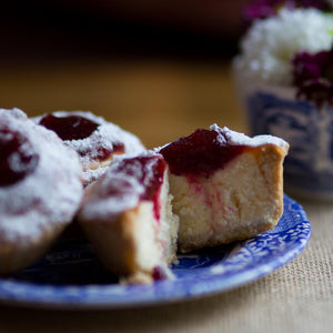 Individual Cranberry Cheesecake