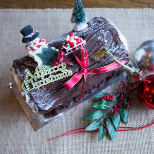 Christmas Chocolate Log