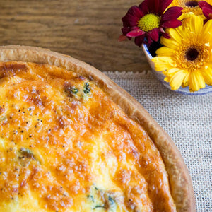 Salmon & Spinach Quiche