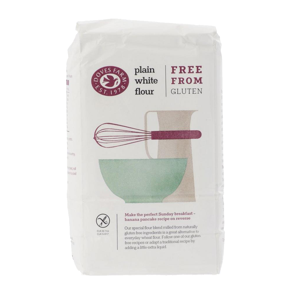 FREE by Doves Farm Plain White Flour Free From Gluten 1kg