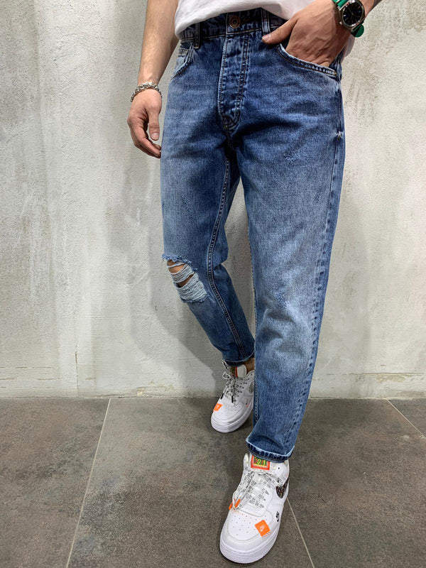 Ripped Jeans Light Wash - Jeans - mens streetwear