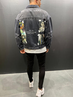 Denim Jacket Art Patch - Jackets - mens streetwear