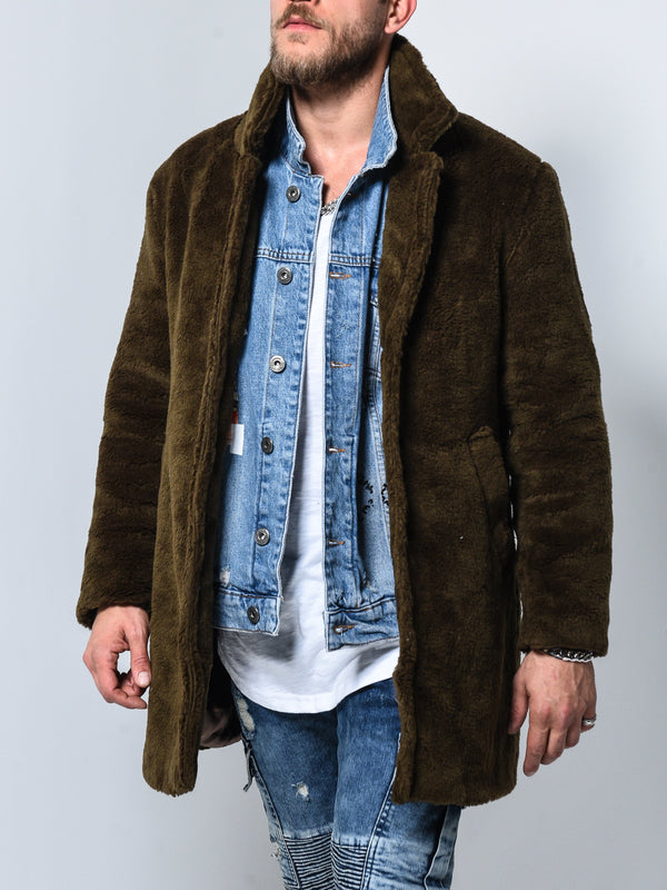 Plush Jacket - Brown
