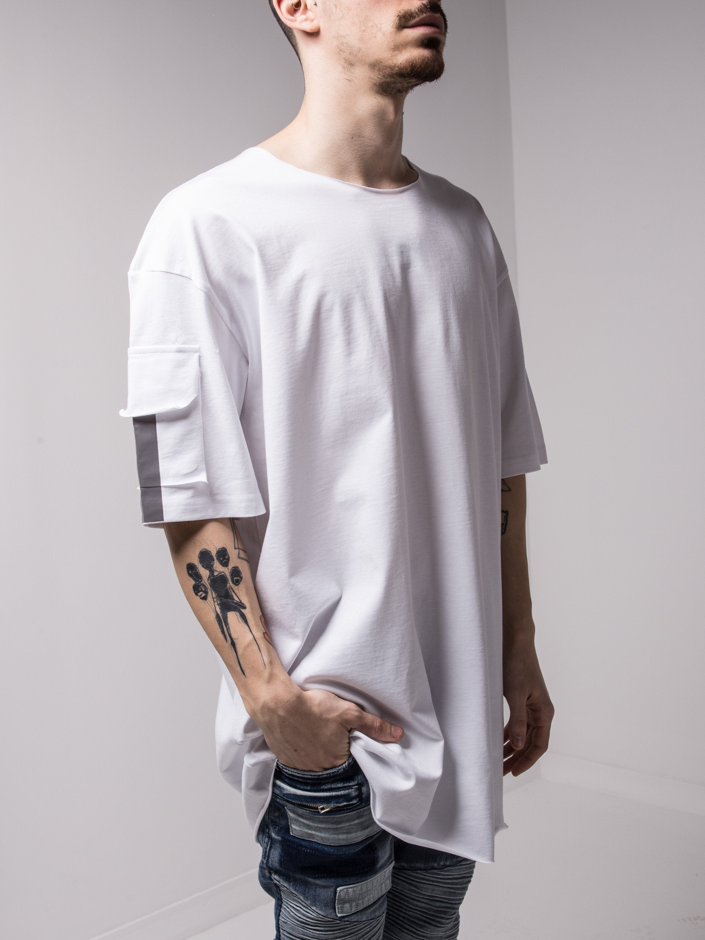 Big Back Pocket T-shirt White - T-Shirts - mens streetwear