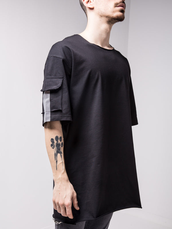 Big Back Pocket T-shirt Black - T-Shirts - mens streetwear