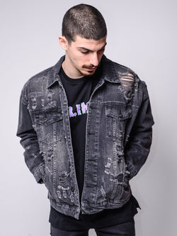 Comics Denim Jacket -  - mens streetwear