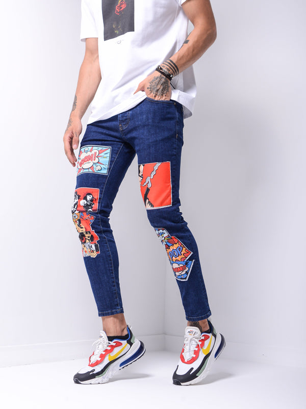 Comic Books Jeans - Navy