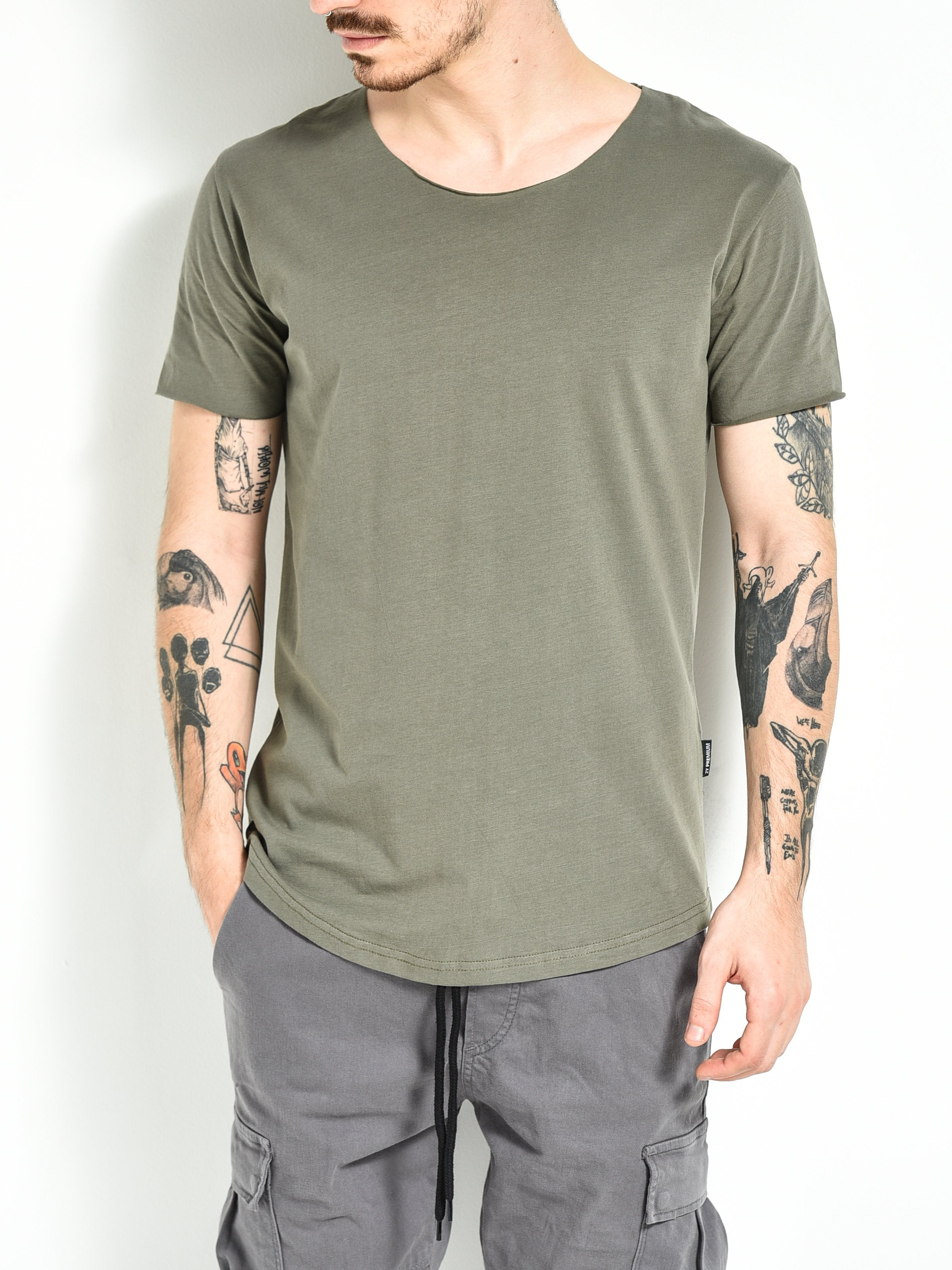 Scoop T-shirt - OD Green